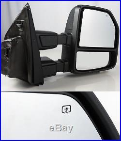 07-18 F250/f350 Super Duty Power/heat/spotlight/signal/blind Spot Towing Mirrors