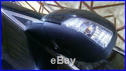 09 Jaguar XF Left Driver Blind Spot Door Mirror (Ultimate Black PEL) C2Z19392