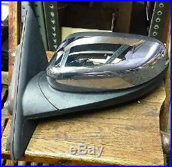 10-18 FORD TAURUS OEM LH Driver Door Mirror Power blind spot Puddle Chrome