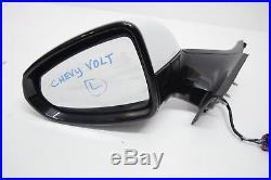 11 12 13 14 15 Chevy Volt Left Driver Mirror White Black Trim Blind Spot