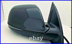 #124 Black Right Passenger Side Mirror For Audi Q7 With Blind Spot 2011 2012-18