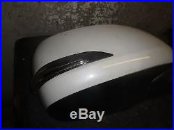 14 15 16 Lexus GX460 Right Passenger Door Mirror White withBlindSpot Surround View