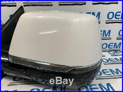 15-18 CADILLAC ESCALADE driver/left side view door mirror withblind spot white OEM