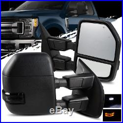 17-18 F250//F350 Power//Heated//Blind Spot//Smoke Signal Telescopic Towing Mirrors