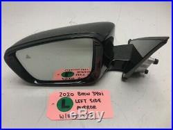 19-20 Bmw M340i 330i 330ix G20 G21 Oem Left Driver Mirror W Camera Blindspot