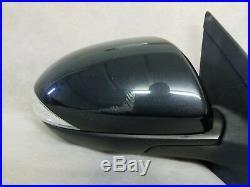 2012-2013 Mazda 3 Passenger Right Mirror Power With Blind Spot Alert OEM Black