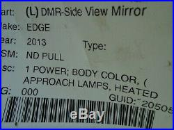 2013 2014 FORD EDGE OEM LH = Driver Door Mirror Power Heat Blind Spot Signal