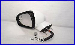 2013 2014 FORD FUSION Power Side View Mirror Left Driver Gray Blind Spot Alert