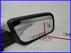 2013-2019 Ford Flex RH Passenger Side Door Mirror WHITE w Blind Spot Alert OEM