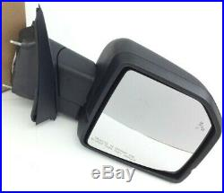 2015-2016 Ford F-150 black blind spot signal RH passenger Side View Mirror OEM