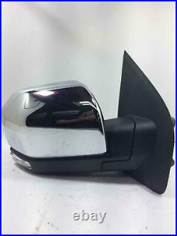 2015-2018 Ford F150 Door Mirror Passenger Right Power Folding Blind Spot Chrome