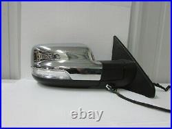 2019 2020 2021 Dodge Ram 1500 Chrome Oem Right Power Door Mirror W Blind Spot D6