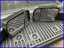 2019 Ram 1500 2500 Black Folding Trailer Tow Mirrors Set Mopar OEM Blind Spot 19