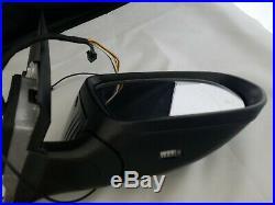 #71 Black Left Driver Side Mirror Blind Spot For C250 C300 C350 C63 15 16 17 18