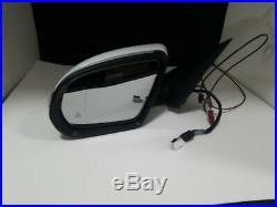 #71 White Left Driver Side Mirror Blind Spot For C250 C300 C350 C63 15 16 17 8