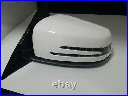 #86 White Left Driver Side Mirror With Blind Spot Fit Mercedes E300 E400 Sedan