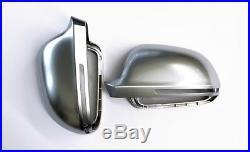 Audi A3 S3 8P Alloy Matt Wing Mirror Door Caps Cover Trim Case Housing S-Line