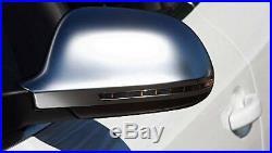 Audi A4 B8 Aluminium Matt Finish Door Wing Mirror Caps Cover Case Housing S Line