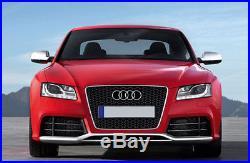 Audi A5 8T Aluminum Matt Finish Wing Mirror Door Caps Cover Case Housing S Line