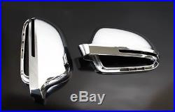 Audi A5 S5 B8 Chrome Wing Mirror Door Caps Cover Trim Case Housing S Line 07-09
