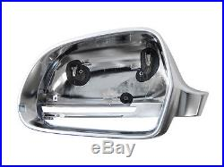 Audi-A5 S5 B8 Full Chrome Finish Door Wing Mirror Caps Cover Case Housing S Line