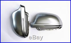 Audi A8 S8 D3 Alloy Matt Wing Mirror Door Caps Cover Trim Case Housing S Line 07