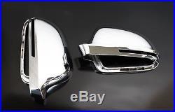 Audi A8 S8 D3 Chrome Wing Mirror Door Caps Cover Trim Case Housing S Line 07-10