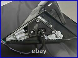 BLACK LEFT DRIVER SIDE MIRROR WithBLIND SPOT FOR MERCEDES C200 C250 C300 C63 15-21