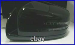 BLACK LEFT DRIVER SIDE MIRROR With BLIND SPOT FOR MERCEDES ML350 GL350 GL450 11-12