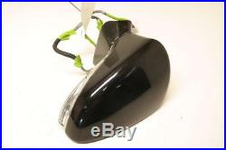 Black Driver Side View Mirror Power Blind Spot Alert Fits 13-17 Lexus LS460 OEM