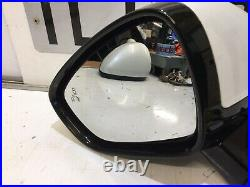 Citroen Ds4 10-15 Passenger Left Side Power Fold + Blind Spot Wing Mirror White