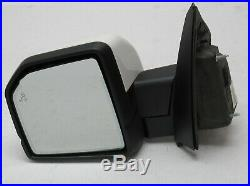 Driver Side Mirror Blind Spot Camera Led Signal White 2015-19 Ford F150 Pickup