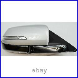Factory Side View Door Mirror Blind Spot DIM Heated RH Silver For Gensis + G80
