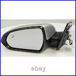 Factory Side View Door Mirror Blind Spot LH Left Silver For Hyundai Elantra