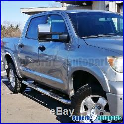 For 07-17 Toyota Tundra Power Heated Tow Mirrors+Smoke LED Signals+Blind Spot