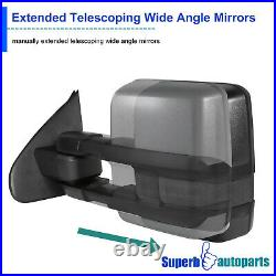 For 2007-2020 Toyota Tundra Power Heat Blind Spot Tow Mirrors+Smoke LED Signal