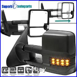 For 2007-2021 Toyota Tundra Power Heat Blind Spot Tow Mirrors+Smoke LED Signal