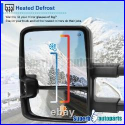 For 2007-2021 Tundra Power Heated Tow Mirrors+Smoke LED Signal+Blind Spot