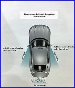 Ford Emblem Backup Camera, 7.3 Rear View Mirror Monitor, (2) Blind Spot Cameras