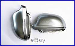 Für Audi A3 A4 A6 A8 Alu Matt Spiegel Abdeckung Spiegel Kappe Spiegel Gehäuse
