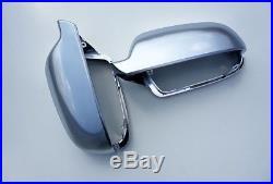 Für Audi A3 S3 8P Alu Matt Spiegel Abdeckung Spiegel Kappe Gehäuse Aluminium