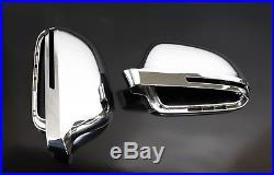 Für Audi A3 S3 8P Chrom Spiegel Abdeckung Spiegel Kappe Gehäuse Außenspiegel