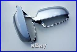 Für Audi A4 S4 8K B8 Alu Aluminium Matt Spiegel Abdeckung Spiegel Kappe Gehäuse