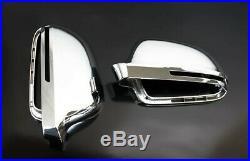 Für Audi A4 S4 8K Chrom Spiegel Abdeckung Spiegel Kappe Gehäuse Außenspiegel