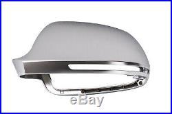 Für Audi A6 S6 4F Alu Matt Spiegel Abdeckung Spiegel Kappe Gehäuse Aluminium