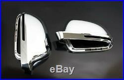 Für Audi A8 S8 4E Chrom Spiegel Abdeckung Spiegel Kappe Gehäuse Außenspiegel