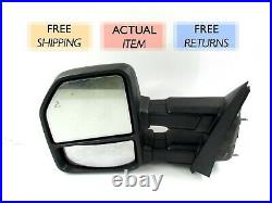 GENUINE OEM 2015 2017 Ford F150 Blind Spot Power Fold Tow Mirror Left/Driver