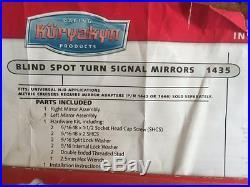Harley Yamaha Kawasaki Kuryakyn Blind Spot Turn Signal Mirrors