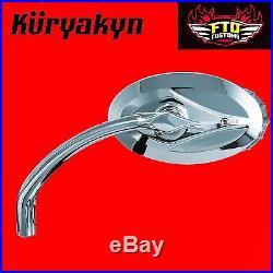 Kuryakyn Chrome Blind Spot II Turn Signal Mirrors for Harley Davidson 1499
