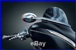 Kuryakyn Chrome Windshield Fairing Mounted Blind Spot Lit Mirrors Harley Batwing